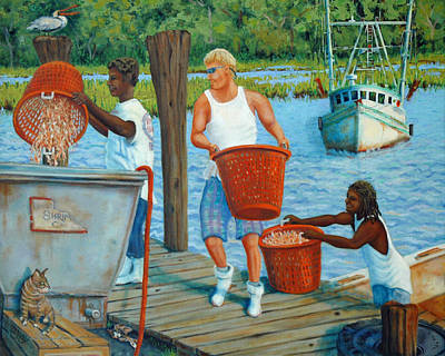 Painting - Mcclellanville Shrimpers by Dwain Ray