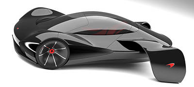 Virtual Car Digital Art - Mclaren Jetset No.2 by Marianna Merenmies