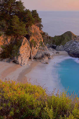 Julia Pfeiffer State Park Photograph - Mcway Falls At Sunset by Stephen  Vecchiotti