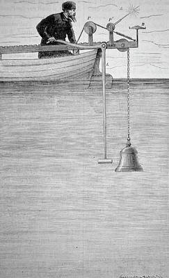 Force Of Nature Photograph - Measuring The Velocity Of Sound In Water by Universal History Archive/uig