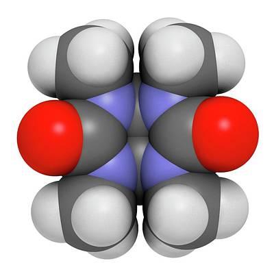 Mebicar Anxiolytic Drug Molecule Art Print by Molekuul