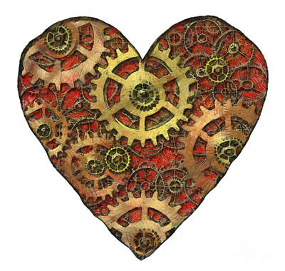 Mechanisms Mixed Media - Mechanical Heart by Michal Boubin