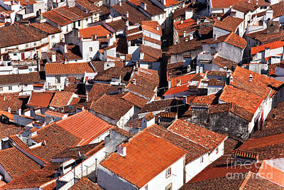 Rooftops Photograph - Medieval Town Rooftops by Jose Elias - Sofia Pereira