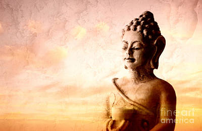 Photograph - Meditating Buddha by Charline Xia