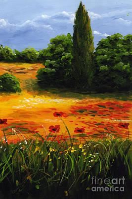 Mediterranean Landscape Art Print by Edit Voros