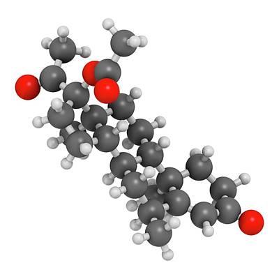 Medroxyprogesterone Acetate Drug Molecule Art Print