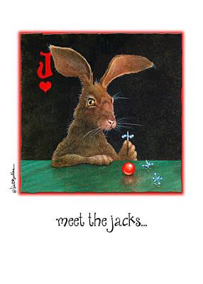 Jack Rabbit Painting - Meet The Jacks... by Will Bullas