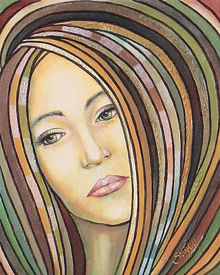 Women Painting - Melancholy 300308 by Sylvia Kula