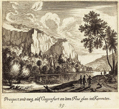 Mountain View Drawing - Melchior Küsel After Johann Wilhelm Baur German by Quint Lox