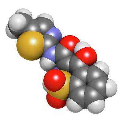 Meloxicam Nsaid Drug Molecule Art Print by Molekuul
