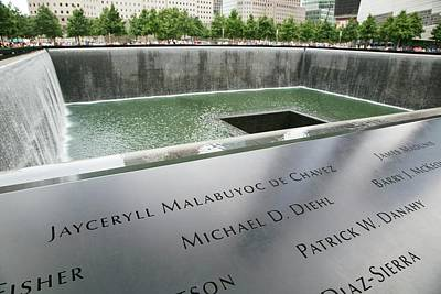 Ground Zero Photograph - Memorial To 11 September 2001 by Jim West