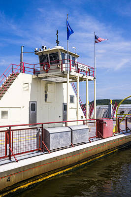 Photograph - Merrimac Ferry - Wisconsin by Steven Ralser