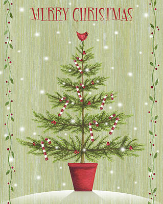Holiday Painting - Merry Christmas by P.s. Art Studios