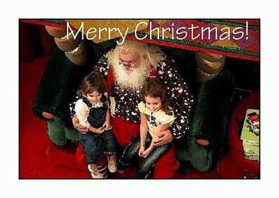 Jerry Sodorff Royalty-Free and Rights-Managed Images - Merry Christmas With Santa by Jerry Sodorff