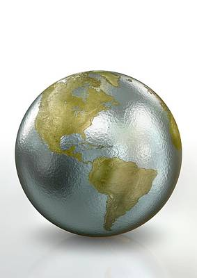 Metallic Earth Art Print by Animated Healthcare Ltd/science Photo Library