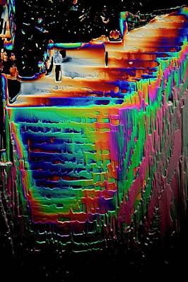 Crystalline Photograph - Metformin Drug Crystals by Antonio Romero
