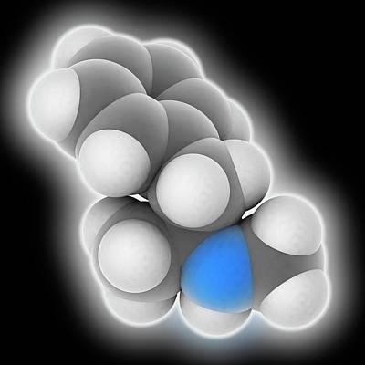 Methamphetamine Drug Molecule Art Print by Laguna Design