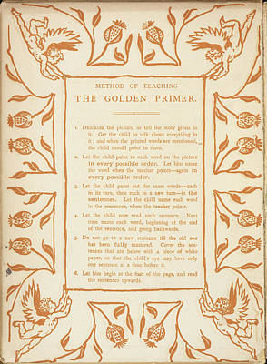 Method Of Teaching The Golden Primer Art Print