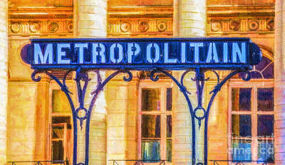 Digital Art - Metropolitain by Liz Leyden