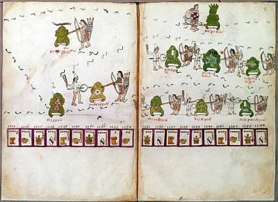 Mexico Aztec Codex Art Print