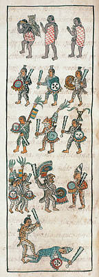 Mexico Aztec Warriors Art Print