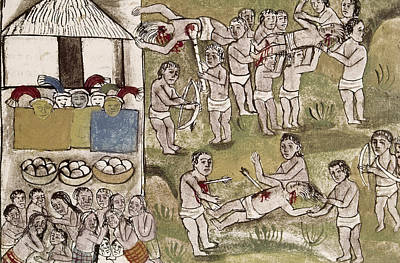 Tarascan Painting - Mexico Indians, C1500 by Granger