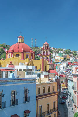 Mexico, Rooftop View Of Guanajuato Art Print by Rob Tilley