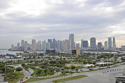 Photograph - Miami Skyline At Sunrise by Willie Harper