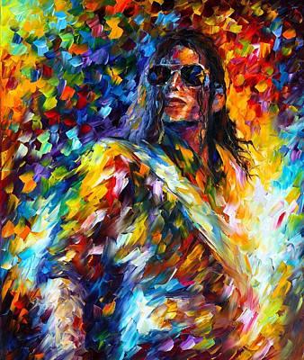 Michael Jackson Oil Painting - Michael Jackson by Leonid Afremov