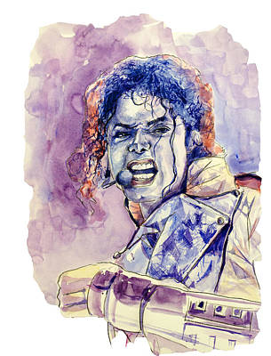 Michael Jackson Art Print by Bekim Art