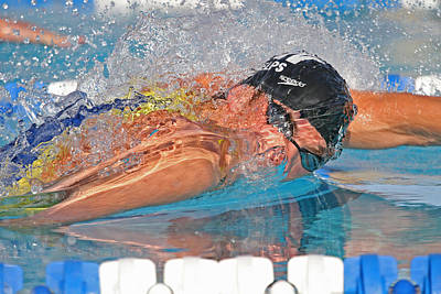 Art Print featuring the photograph Michael Phelps by Duncan Selby