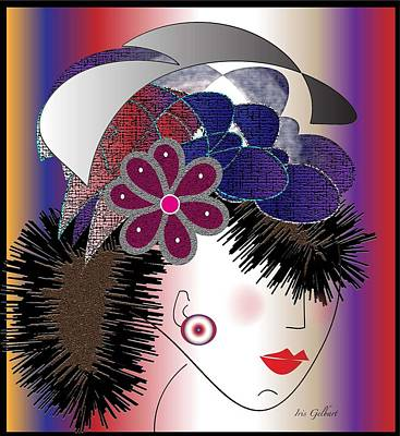 Michelle Art Print by Iris Gelbart