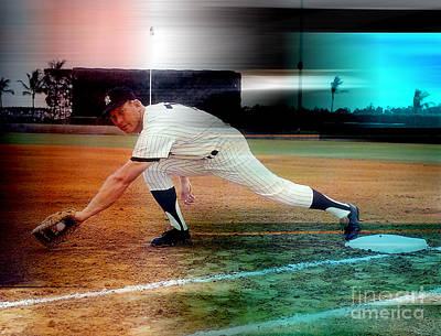 Mickey Mantle Art Print by Marvin Blaine