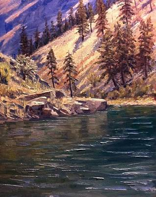 Salmon River Idaho Painting - Middle Fork Of The Salmon by Tom Siebert