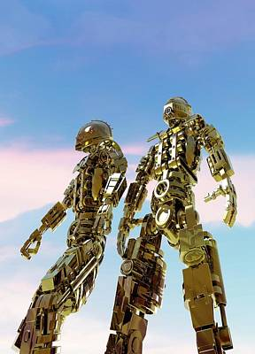 Military Robots Art Print by Victor Habbick Visions