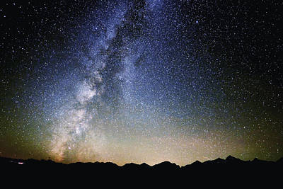 Milky Way At The Tetons Art Print