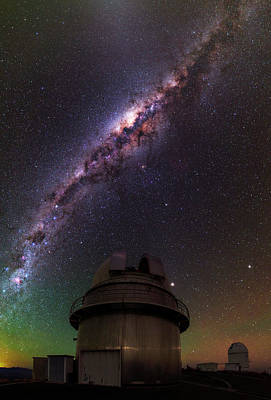 Milky Way Over La Silla Observatory Print by Babak Tafreshi