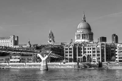 Photograph - Millennium Bridge And St Pauls by Chris Day