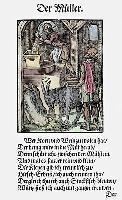 Pouring Painting - Milling Grain, 1568 by Granger