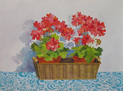Painting - Mimi's Basket by Mary Ellen Mueller Legault