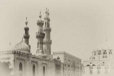 Photograph - Minarets Of Al Azhar Mosque In Cairo by Paul Cowan