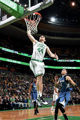 Photograph - Minnesota Timberwolves V Boston Celtics by Brian Babineau