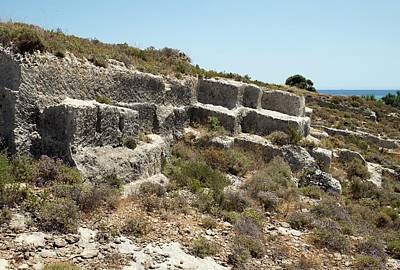 Ancient Civilization Photograph - Minoan Sandstone Quarry by David Parker