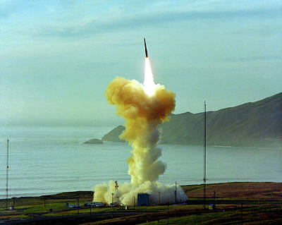 Minuteman Nuclear Missile Launch Art Print by Us National Archives