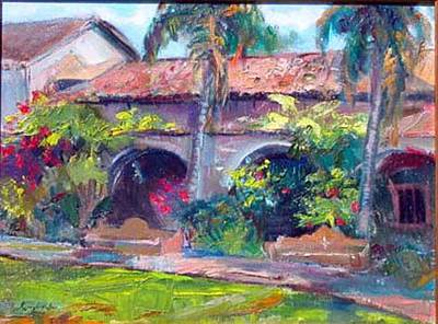 Painting - Mission San Juan Capistrano by Renuka Pillai