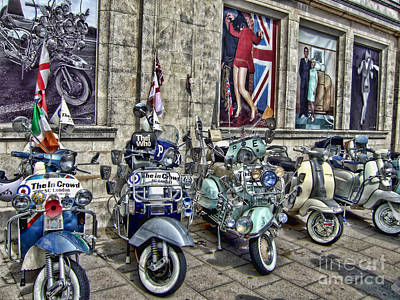 Mod Scooters And 60s Fashion Art Print