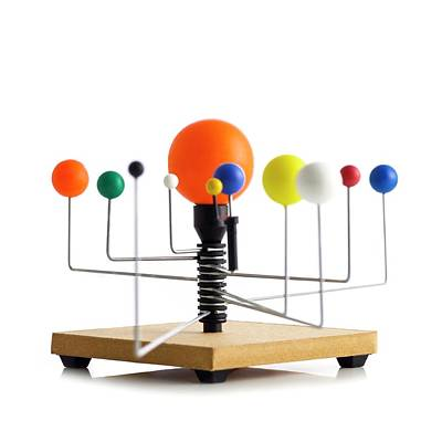 Orrery Photograph - Model Of The Solar System by Science Photo Library
