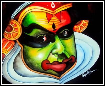 Kathakali Painting - Modern Art by Sheetal Bhonsle