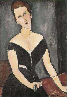 Modigliani, Amedeo 1884-1920. Portrait Art Print by Everett
