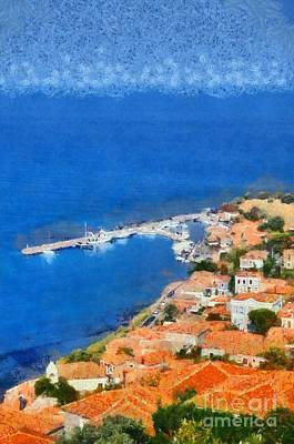 Painting - Molyvos Town by George Atsametakis
